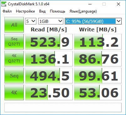 SSD тест скорости